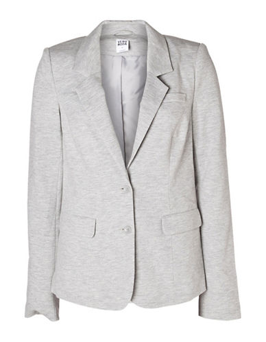 Vero Moda Jana Jersey Blazer-LIGHT GREY-Large