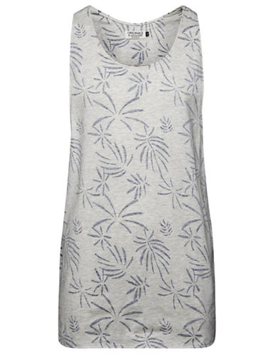 Jack & Jones Palm Print Tunic Top-WHITE-X-Large 87597335_WHITE_X-Large