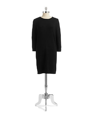 Vero Moda Aura Knit Dress-BLACK-Medium