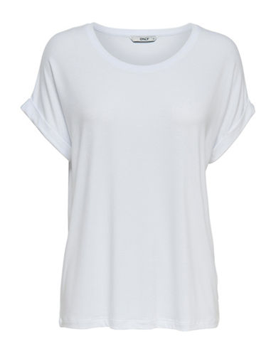 Only onlMOSTER Loose Tee-WHITE-X-Small 90075017_WHITE_X-Small