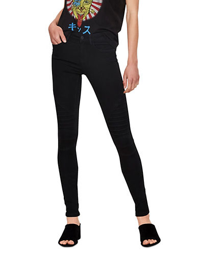 Noisy May Mex Lucy Biker Jean-BLACK-Medium
