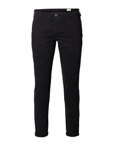 Selected Homme Shhoneluca Black St Pants-BLACK-33X32