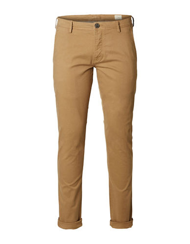 Selected Homme Shhoneluca Camel St Pants-BEIGE-33X32