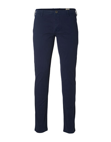 Selected Homme Shhoneluca Camel St Pants-BLUE-31X32