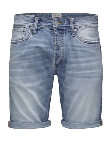 Jack & Jones Light Denim Cuffed Shorts-BLUE-X-Large 88238561_BLUE_X-Large