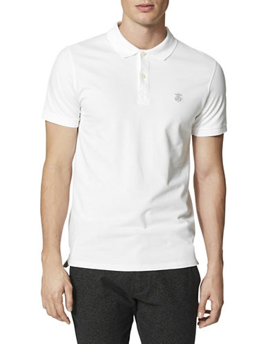 Selected Homme SHHARO Embroidered Polo-BRIGHT WHITE-XX-Large