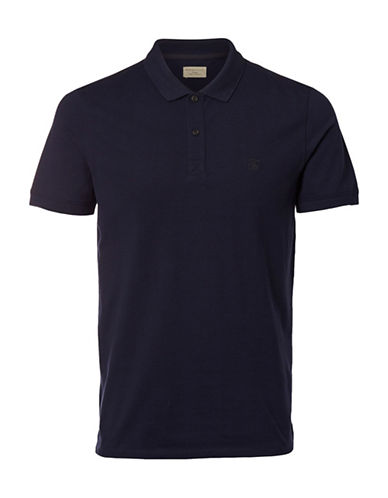 Selected Homme SHHARO Embroidered Polo-BLUE-Small