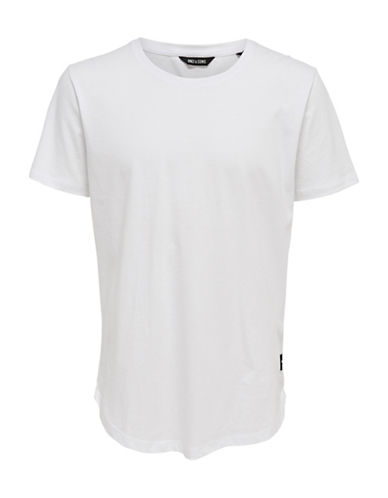 Only And Sons Matt Short Sleeve Tee-WHITE-XX-Large