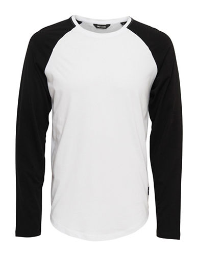Only And Sons onsMATT Raglan Sleeve Top-BLACK-Large 88915192_BLACK_Large