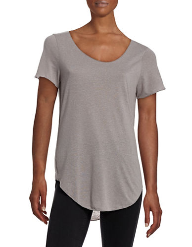 Vero Moda Scoop Neck Short Sleeve Top-GREY-Large