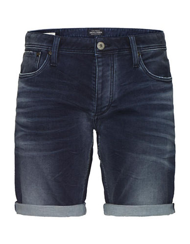 Jack & Jones Blue Denim Long Shorts-BLUE-X-Large 88370595_BLUE_X-Large