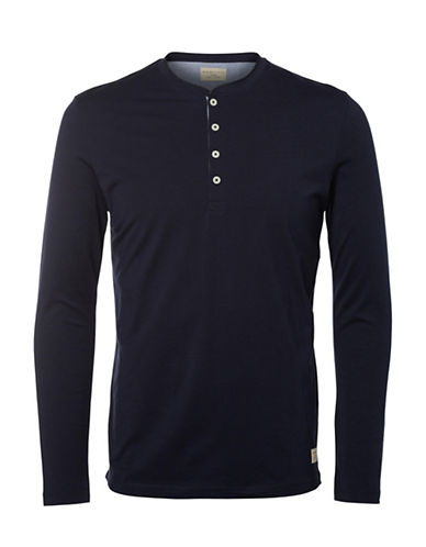 Selected Homme Nikilas Henley Top-NIGHT SKY-XX-Large
