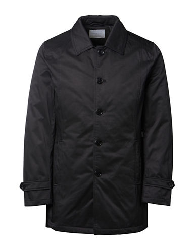 Selected Homme Tribeca Single-Breasted Button Coat-BLACK-Large 88573543_BLACK_Large