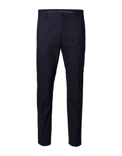 Selected Homme Mylologan Wool-Blend Dress Pants-NATURAL-32X36