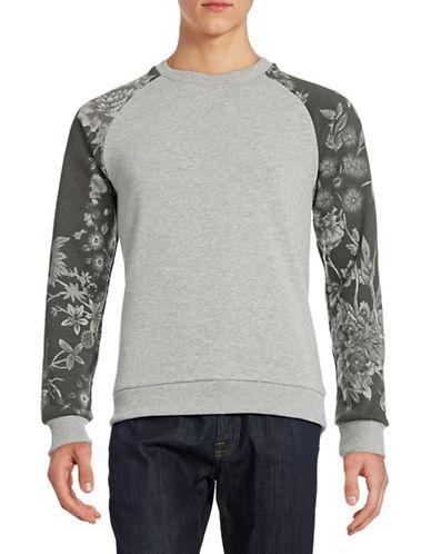 Jack & Jones Contrast Raglan Sleeve Sweatshirt-GREY-X-Large 88047535_GREY_X-Large