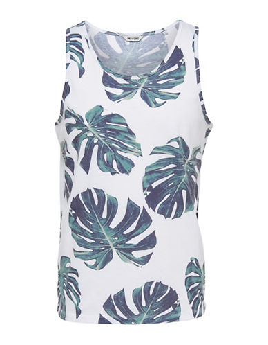 Only And Sons Hector Cactus Print Tank-WHITE-Large 88396267_WHITE_Large