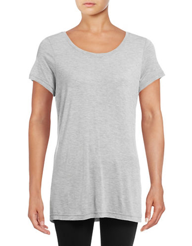 Vero Moda Joy Short Sleeve Top-LIGHT GREY-Medium