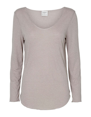 Vero Moda Lua Long Sleeve Top-GREY-Medium