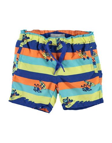 Name It Monkey Printed Swim Shorts-GREEN-2