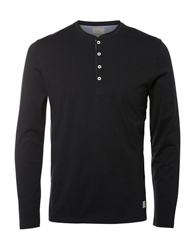 Selected Homme Nikilas Henley Top-BLACK-Medium