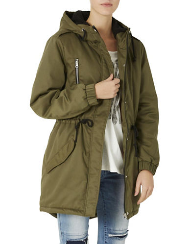 Noisy May Padded Parka Jacket-GREEN-X-Small 88738198_GREEN_X-Small