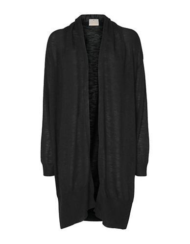 Noisy May Crow Long Sleeve Drapey Cardigan-BLACK-X-Small 89110213_BLACK_X-Small