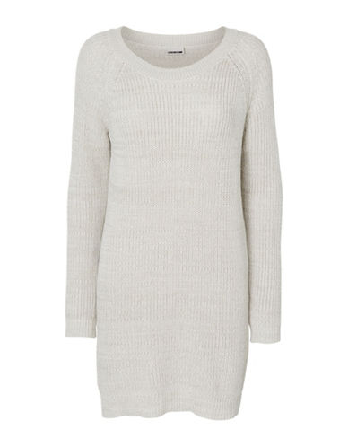Noisy May Siesta Knit Dress-BEIGE-Medium
