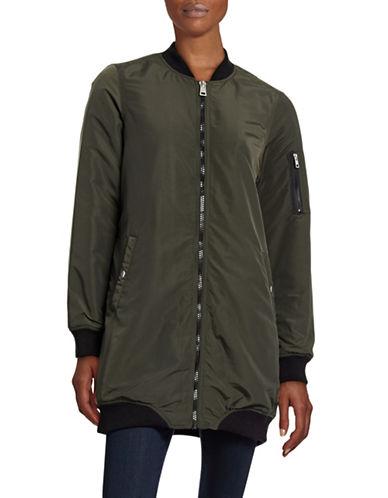 Vero Moda Longline Bomber Jacket-GREEN-Large 88515649_GREEN_Large