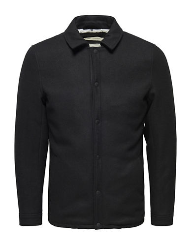 Only And Sons Jordy Wool-Blend Jacket-BLACK-Medium 88558565_BLACK_Medium