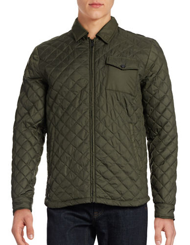 Only And Sons Josep Quilted Jacket-GREEN-Medium 88448248_GREEN_Medium