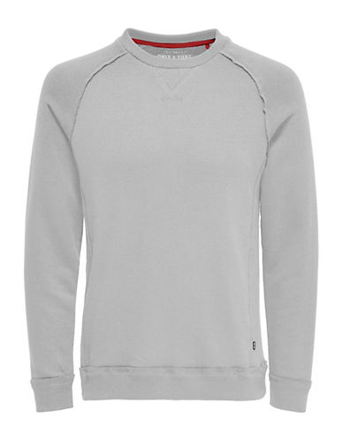 Only And Sons Frede Crew Neck Sweatshirt-LIGHT GREY-XX-Large