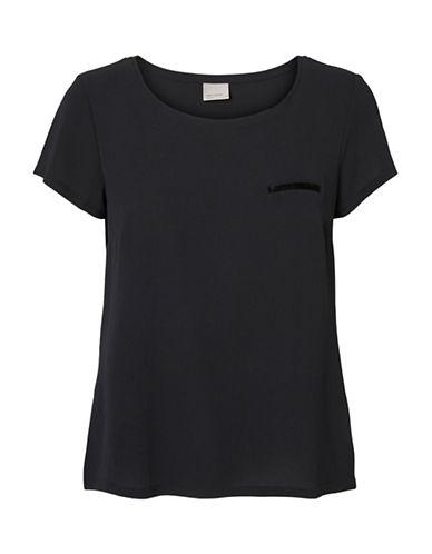 Vero Moda Sasha Pocket Trim Tee-BLACK-X-Small 88515666_BLACK_X-Small