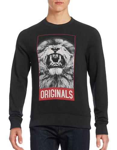 Jack & Jones Fleece-Lined Graphic Sweatshirt-BLACK-Medium 88605275_BLACK_Medium