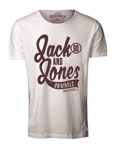 Jack & Jones Jornew Crew Neck Graphic Tee-WHITE-X-Large 88445211_WHITE_X-Large