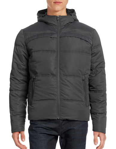 Jack & Jones Hooded Quilted Bomber Jacket-GREY-Small 88530131_GREY_Small