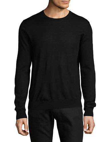 Tiger Of Sweden Wool Crew Neck Sweater-BLACK-Large