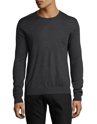 Tiger Of Sweden Wool Crew Neck Sweater-GREY-Large