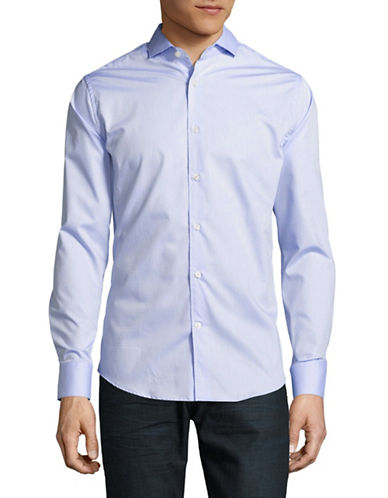 Tiger Of Sweden Slim Fit Dobby Dot Sport Shirt-LIGHT BLUE-EU 42/US 16.5