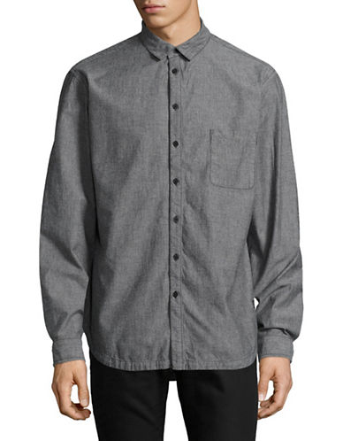 Tiger Of Sweden TJ Mellow Oversized Long Sleeve Woven Shirt-BLACK-Large