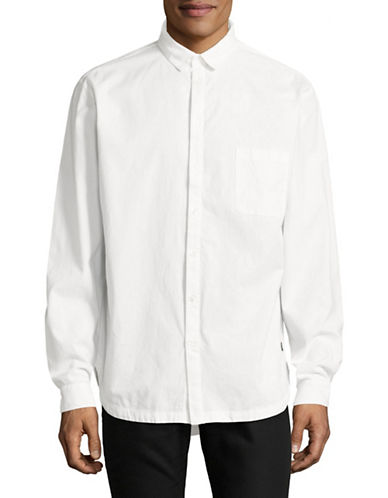 Tiger Of Sweden TJ Mellow Oversized Long Sleeve Woven Shirt-WHITE-Medium