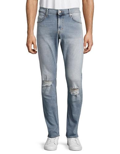 Tiger Of Sweden Pistolero Distressed Tapered Jeans-LIGHT BLUE-32