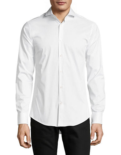 Tiger Of Sweden Farrell Solid Sport Shirt-WHITE-EU 38/US 15