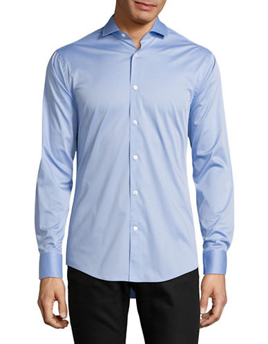 Tiger Of Sweden Farrell Solid Sport Shirt-BLUE-EU 41/US 16