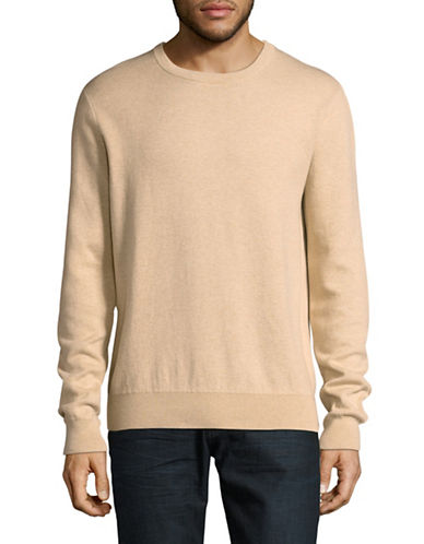 Tiger Of Sweden Cashmere Cotton Crew Sweater-NATURAL-Small