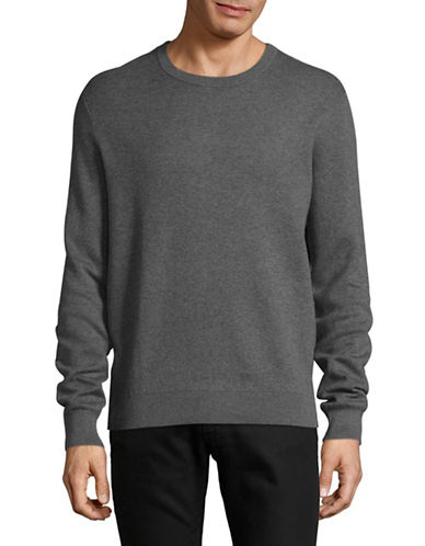 Tiger Of Sweden Cashmere Cotton Crew Sweater-GREY-Small