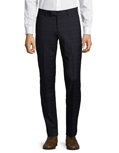 Tiger Of Sweden Checkered Wool Pants-BLUE-30