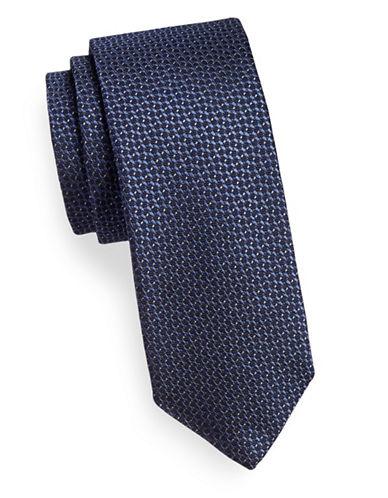 Tiger Of Sweden Geo-Print Silk Tie-NAVY-One Size