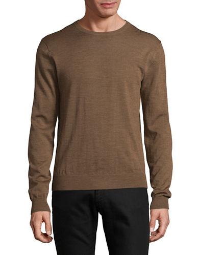Tiger Of Sweden Wool Crew Neck Sweater-BROWN-Large