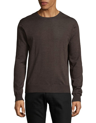 Tiger Of Sweden Wool Crew Neck Sweater-BROWN-Small