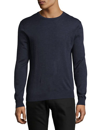 Tiger Of Sweden Wool Crew Neck Sweater-NAVY-Medium